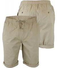Lesara Bermuda-Shorts mit umgeschlagenem Hosenbein - Beige - M