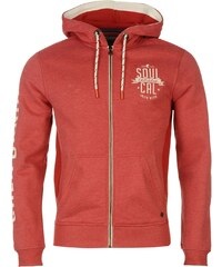 SoulCal Waffle Hoodie Red Marl