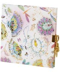 TURNOWSKY - Čtvercový deník se zámečkem, Silver Moon bright, 16,5x16,5 cm, 96 listů, bílý papír (442