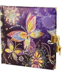 TURNOWSKY - Čtvercový deník se zámečkem, Silver Moon nightblue, 16,5x16,5 cm, 96 listů, bílý papír (