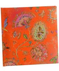 TURNOWSKY - Čtvercový deník, Silver Moon orange, 16,5x16,5 cm, 96 listů, bílý papír (41288)