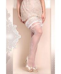 Ballerina Luxusní samodržící punčochy Soft size 361 bílá XL