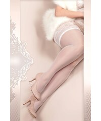 Ballerina Luxusní samodržící punčochy Soft size 363 bílá XXL