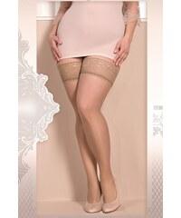 Ballerina Luxusní samodržící punčochy Soft size 363 skin XXL