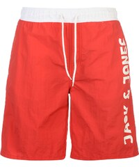 Plážové kraťasy Jack and Jones Jeans Intelligence Sack pán. červená
