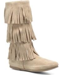 Minnetonka - 3 LAYER FRINGE BOOT - Stiefeletten & Boots für Damen / beige