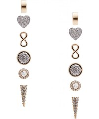 GUESS GUESS Gold-Tone Bling and Heart Stud Earrings Set - gold