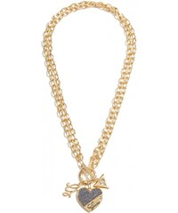 GUESS Guess Gold-Tone Heart Link Necklace - gold