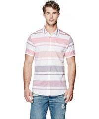 GUESS GUESS Carlsen Striped Shirt - vintage light wash