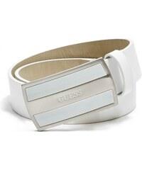 GUESS GUESS Chevron-Textured Plaque Belt - white