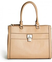 GUESS GUESS Delray Saffiano Carryall - sand