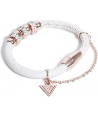 GUESS GUESS White and Rose Gold-Tone Magnetic Bead Bracelet - white