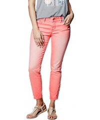 GUESS GUESS Fianna Lace-Up Ankle Jeans in Hot Coral Wash - hot coral