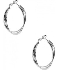 GUESS GUESS Stardust Silver-Tone Multi Hoops - silver
