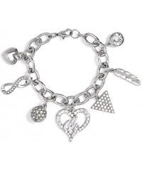 GUESS GUESS Silver-Tone Link Charm Bracelet - silver
