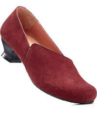 bpc selection Slippers en cuir rouge chaussures & accessoires - bonprix