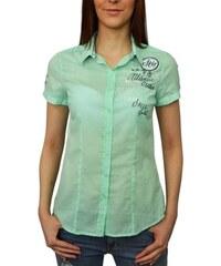Dámská košile Soccx SPI-1603-5028 zelená