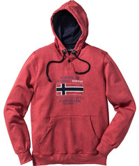 bpc selection Sweat-shirt à capuche Regular Fit rouge manches longues homme - bonprix