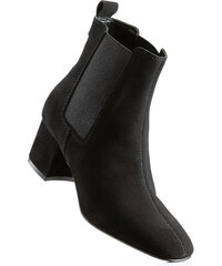 bpc selection Bottines en cuir noir avec 6 cm talon carréfemme - bonprix