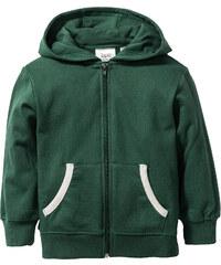bpc bonprix collection Gilet sweat-shirt à capuche, T. 80/86-128/134 vert manches longues enfant - bonprix