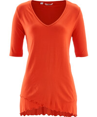 bpc bonprix collection T-shirt double épaisseur mi-manches orange femme - bonprix