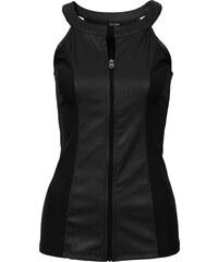 BODYFLIRT boutique Top synthétique imitation cuir noir femme - bonprix