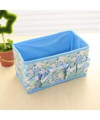 Lesara Faltbarer Bad-Organizer mit Blumen-Print - Blau