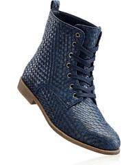 bpc bonprix collection Bottines bleu avec 2 cm talon carréchaussures & accessoires - bonprix