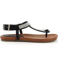 Letní sandály Claudia Ghizzani v hnědo-černé