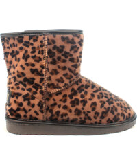 Leopardí nízké válenky s kožíškem Break&Walk