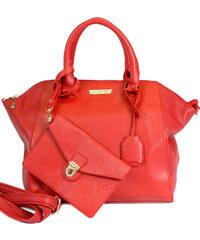 Červená větší kabelka s psaníčkem MARIA MARE