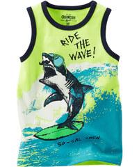 Oshkosh Chlapecké tílko se žralokem - modro-zelené