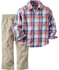 Carter's Chlapecký set košile a kalhoty - krémový