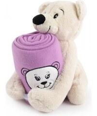 My Best Home Dětská deka s hračkou Safari Medvídek, 75x90 cm