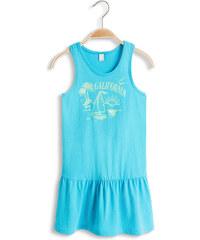 Esprit Blýskavé košilové šaty s potiskem, bavlna