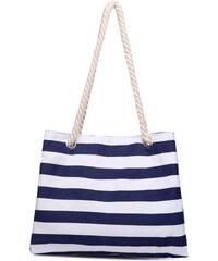 Lesara Strandtasche mit Kordel-Henkeln - Blau