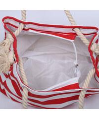 Lesara Strandtasche mit Kordel-Henkeln - Rot