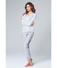 Jadea Dámské italské pyžamo Alessandra bílá L