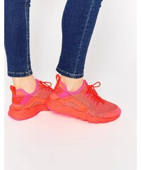 Nike - Air Huarache Run Breathe - Purpurfarbene Sneakers - Rot