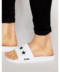 Slydes - Tongs motif étoile - Blanc