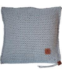 Catness Design s.r.o. Ručně pletený polštář 002 šedý 50x50 cm