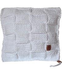 Catness Design s.r.o. Ručně pletený polštář 017 bílý 50x50 cm