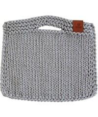 Catness Design s.r.o. Ručně pletená kabelka 012 sv. šedá