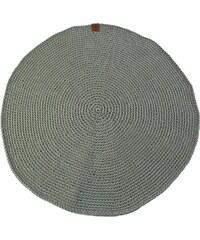 Catness Design s.r.o. Ručně háčkovaný koberec 003 sv. zelený ø 100 cm