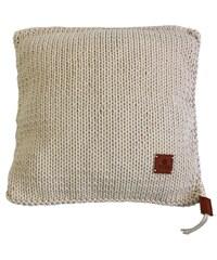 Catness Design s.r.o. Ručně pletený polštář 014 slonová kost 50x50 cm
