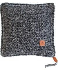 Catness Design s.r.o. Ručně háčkovaný polštář 022 šedo-černý 50x50 cm