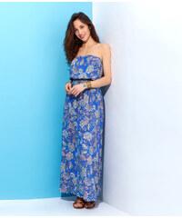 Robe longue imprimée fleurs, bretelles amovibles Etam