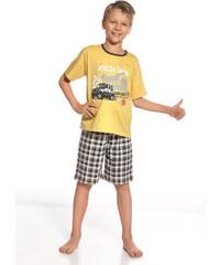 "Chlapecké pyžamo Cornette ""Safari"" YOUNG, KIDS, žlutá - šedá"