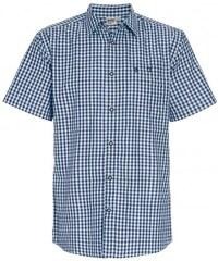 Distler Herren Trachtenhemd körpernah blau aus Baumwolle