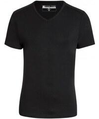 COOL CODE Herren T-Shirt figurbetont schwarz aus Baumwolle